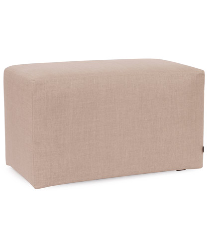 Howard Elliott Collection 130-610 Prairie 20 inch Natural Linen Ottoman photo