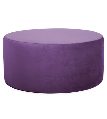 Howard Elliott Collection 132-223 Bella 18 inch Eggplant Purple Ottoman photo