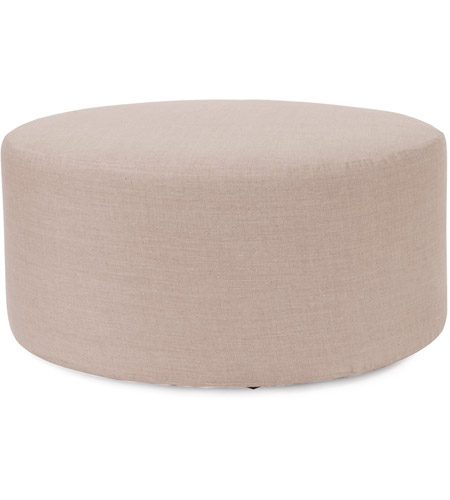 Howard Elliott Collection 132-610 Prairie 18 inch Natural Linen Ottoman photo