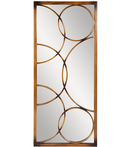 Howard Elliott Collection 13225 Brittany 47 X 21 inch Brushed Antique Bronze Metal Wall Mirror, Rectangle photo
