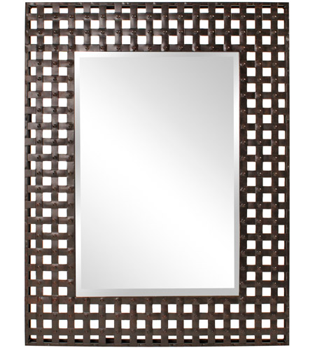 Howard Elliott Collection 13326 Patrick 46 X 37 inch Antique Black Wall Mirror, Rectangle photo