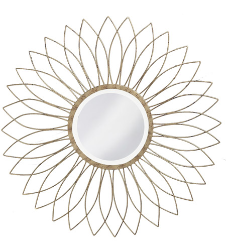 Howard Elliott Collection 1376-S Charlese 38 X 38 inch Antique Brushed Silver Wall Mirror, Round photo