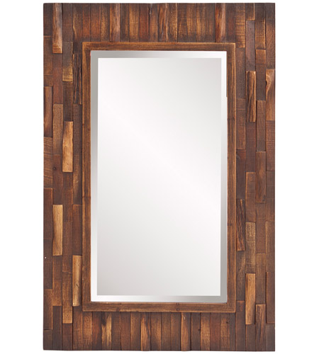 Howard Elliott Collection 14259 Forrest 36 X 24 inch Distressed Brown Wall Mirror photo