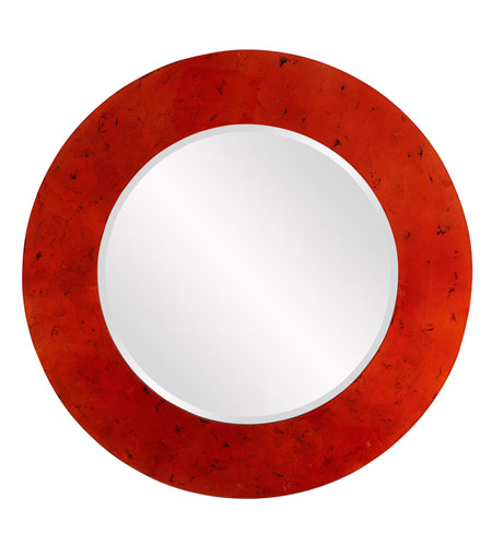 Howard Elliott Collection 14263 Kayla 36 X 36 inch Orange and White Wall Mirror, Round photo