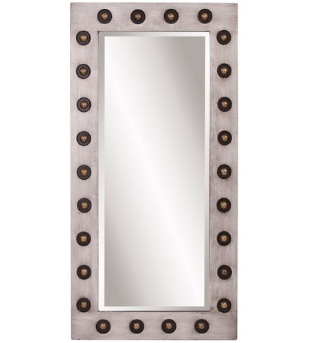 Howard Elliott Collection 14283 Jax 48 X 24 inch Hand Painted Silver Wall Mirror, Rectangle, Large photo