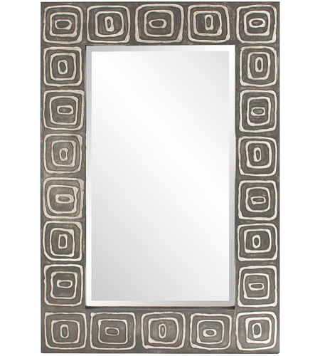 Howard Elliott Collection 14289 Allegro 48 X 32 inch Graphite Gray Wall Mirror, Rectangle photo