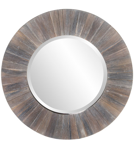 Howard Elliott Collection 14301 Henley 18 X 18 inch Dark Rustic Wood Wall Mirror photo
