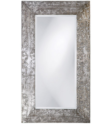 Howard Elliott Collection 1980 Napier 46 X 26 inch Brushed Silver and Black Wall Mirror, Rectangle photo