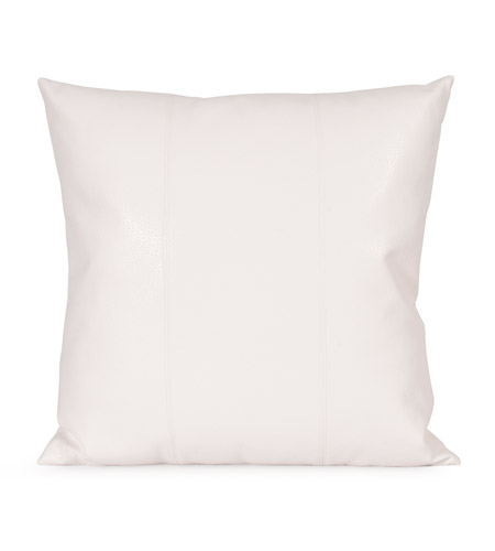 Howard Elliott Collection 2-190 Avanti 20 X 6 inch White Pillow, Square photo