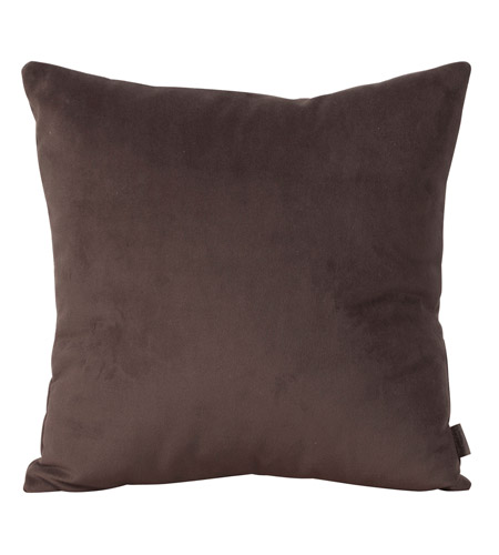 Howard Elliott Collection 2-220F Bella 20 X 6 inch Rich Brown Pillow, Square photo