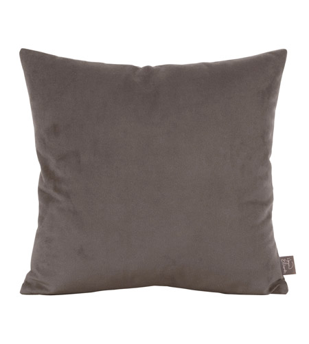 Howard Elliott Collection 2-225 Bella 20 X 6 inch Pewter Gray Pillow, Square photo