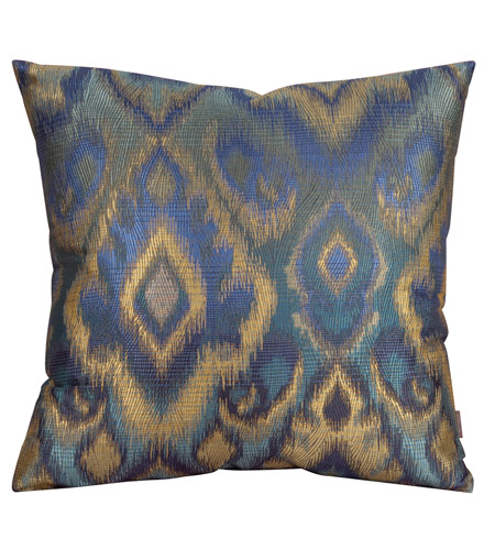 Howard Elliott Collection 2-234F Opal 20 X 6 inch Blue and Green Pillow, Square photo