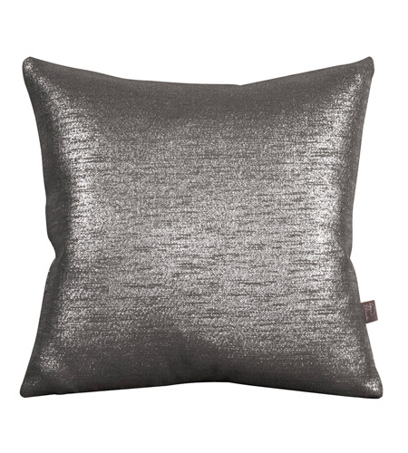 Howard Elliott Collection 2-236F Glam 20 X 6 inch Metallic Silver Pillow, Square photo