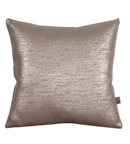 Howard Elliott Collection 2-237F Glam 20 X 6 inch Metallic Silver Pillow, Square photo