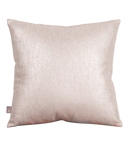 Howard Elliott Collection 2-239F Glam 20 X 6 inch Metallic Silver Pillow, Square photo