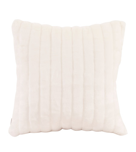 Howard Elliott Collection 2-256F Mink 20 X 6 inch Snow Pillow, Square photo