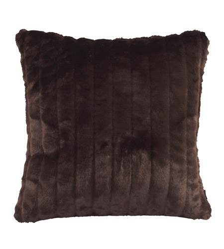 Howard Elliott Collection 2-285F Mink 20 X 6 inch Brown Pillow, Square photo