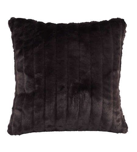 Howard Elliott Collection 2-286F Mink 20 X 6 inch Black Pillow, Square photo