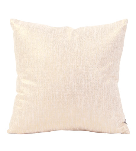 Howard Elliott Collection 2-291F Glam 20 X 6 inch Metallic Gold Pillow, Square photo