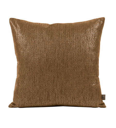 Howard Elliott Collection 2-293 Glam 20 X 6 inch Dark Chocolate Pillow, Square photo
