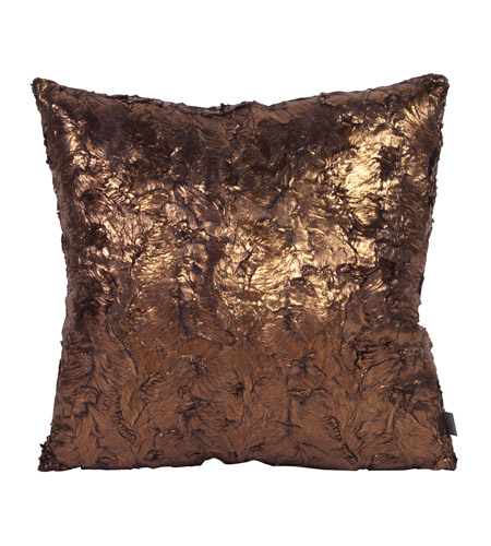 Howard Elliott Collection 2-295F Gold Cougar 20 X 6 inch Metallic Pillow, Square photo