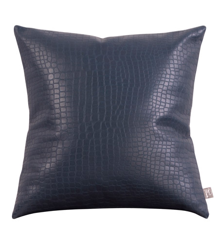 Howard Elliott Collection 2-469 Gator 20 X 6 inch Indigo Blue Pillow, Square photo
