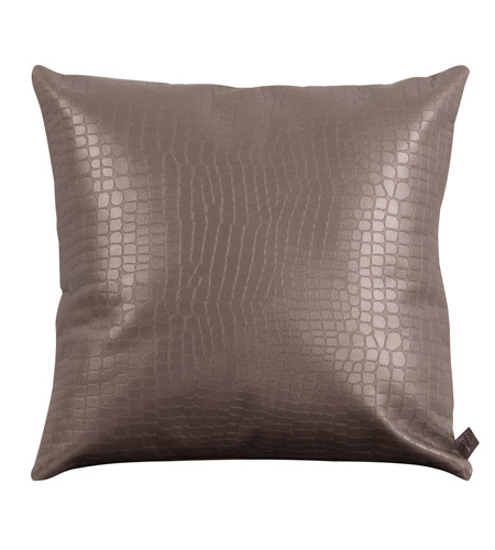 Howard Elliott Collection 2-470F Gator 20 X 6 inch Pewter Gray Pillow, Square photo