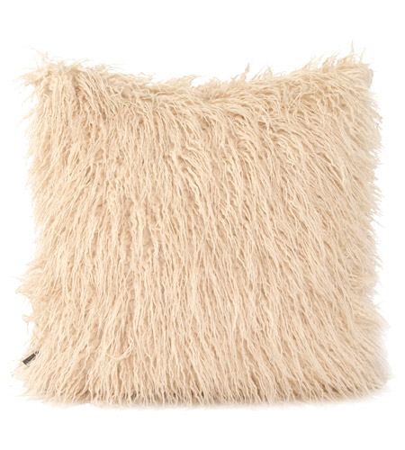 Howard Elliott Collection 2-531 Llama 20 X 6 inch White Faux Fur Pillow, Square photo