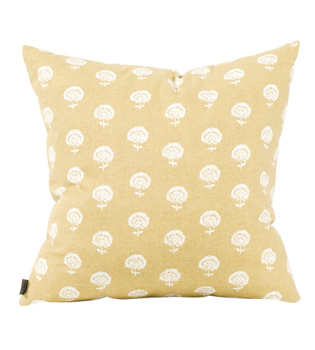 Howard Elliott Collection 2-612F Dandelion 20 inch Dandelion Citron Pillow, Square photo