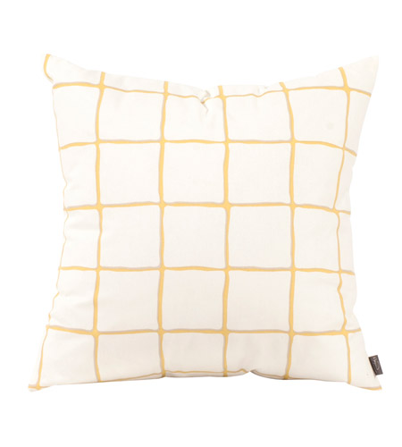Howard Elliott Collection 2-632F Lattice 20 inch Lattice Citron Pillow, Square photo