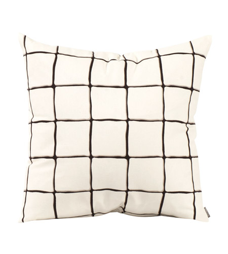 Howard Elliott Collection 2-633 Lattice 20 inch Lattice Onyx Pillow, Square photo
