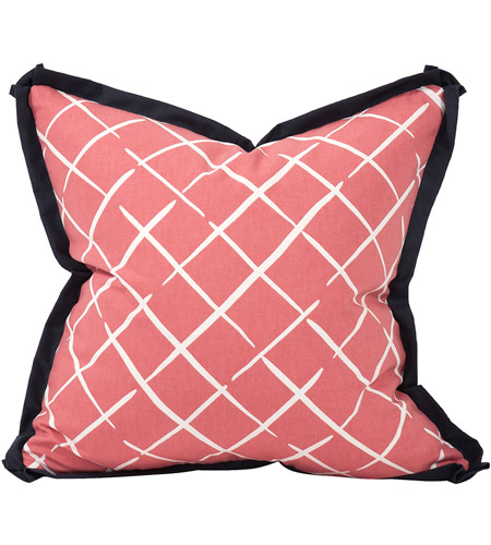 Howard Elliott Collection 2-663 Madcap Cottage 20 inch Cove End Rhubarb Pillow photo
