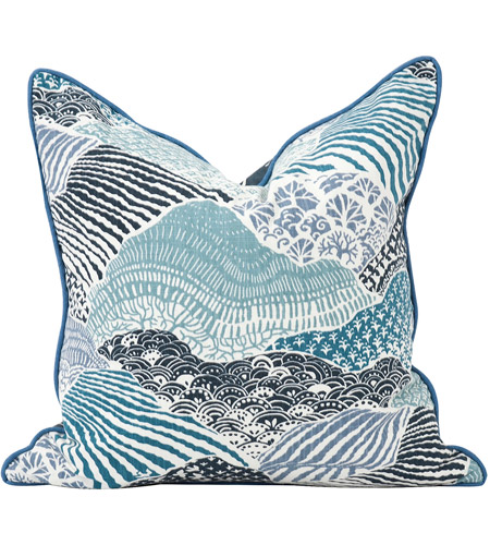 Howard Elliott Collection 2-667F Madcap Cottage 20 inch Windsor Park Ocean Pillow, with Down Insert photo