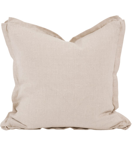 Howard Elliott Collection 2-775F Davida Kay 20 inch Linen Slub Natural Pillow, with Down Insert photo
