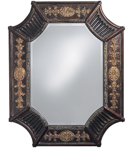 Howard Elliott Collection 2001 Orion 39 X 32 inch Deep French Brown Resin Wall Mirror, Rectangle photo