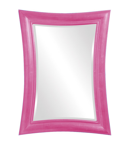 Howard Elliott Collection 2003HP Fairmont 45 X 34 inch Hot Pink Wall Mirror, Rectangle photo