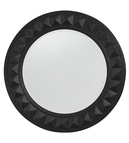 Howard Elliott Collection 2006BL Fantasia 32 X 32 inch Black Wall Mirror, Round photo