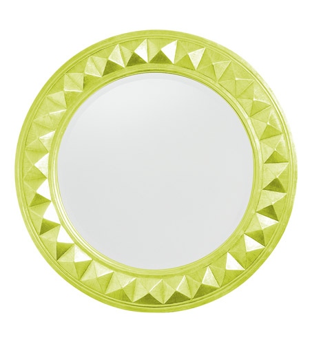 Howard Elliott Collection 2006MG Fantasia 32 X 32 inch Moss Green Wall Mirror, Round photo