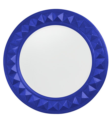 Howard Elliott Collection 2006RB Fantasia 32 X 32 inch Royal Blue Wall Mirror, Round photo