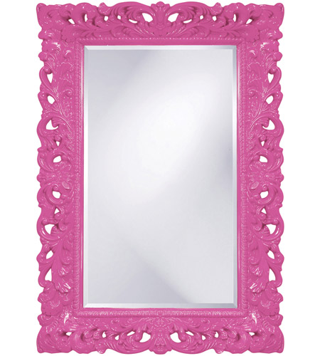Howard Elliott Collection 2020HP Barcelona 46 X 32 inch Hot Pink Wall Mirror, Rectangle photo