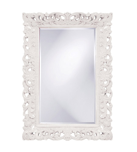 Howard Elliott Collection 2020W Barcelona 46 X 32 inch White Wall Mirror, Rectangle photo