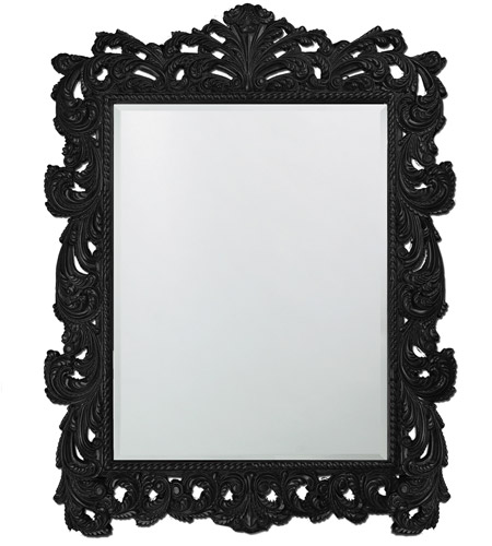 Howard Elliott Collection 2037XLBL Napoleon 85 X 65 inch Black Wall Mirror, Rectangle photo