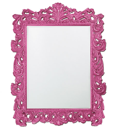 Howard Elliott Collection 2037XLHP Napoleon 85 X 65 inch Hot Pink Wall Mirror, Rectangle photo