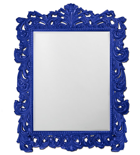 Howard Elliott Collection 2037XLRB Napoleon 85 X 65 inch Royal Blue Wall Mirror, Rectangle photo