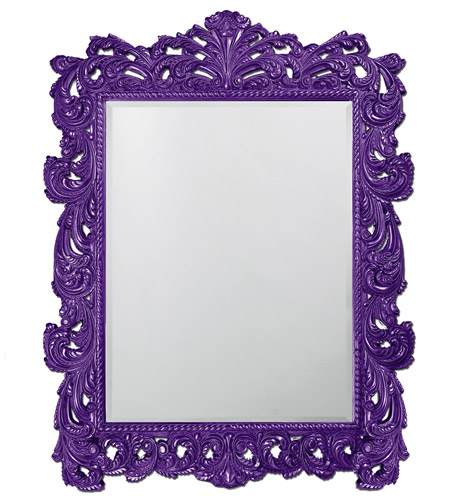 Howard Elliott Collection 2037XLRP Napoleon 85 X 65 inch Royal Purple Wall Mirror, Rectangle photo