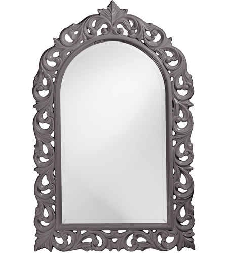 Howard Elliott Collection 2058CH Orleans 47 X 30 inch Charcoal Gray Wall Mirror, Rectangle photo