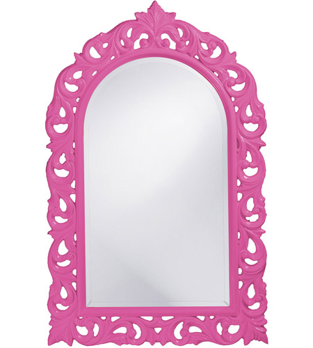 Howard Elliott Collection 2058HP Orleans 47 X 30 inch Hot Pink Wall Mirror, Rectangle photo