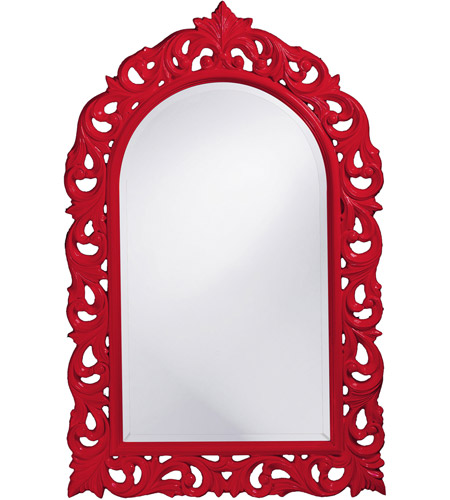 Howard Elliott Collection 2058R Orleans 47 X 30 inch Red Wall Mirror, Rectangle photo