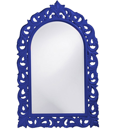 Howard Elliott Collection 2058RB Orleans 47 X 30 inch Royal Blue Wall Mirror, Rectangle photo