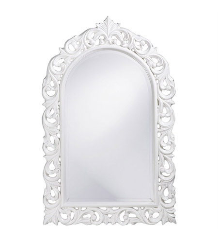 Howard Elliott Collection 2058W Orleans 47 X 30 inch White Wall Mirror, Rectangle photo